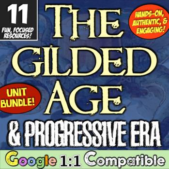 Progressive Era & Gilded Age Bundle! 7 Engaging Resources