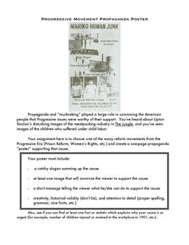 Printables Progressive Era Worksheets progressive era worksheet vintagegrn propaganda poster activity by jon perry teachers