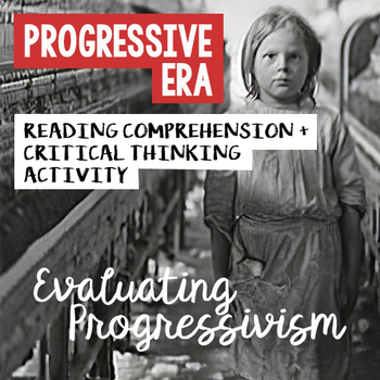 Progressive Era Reading Worksheet