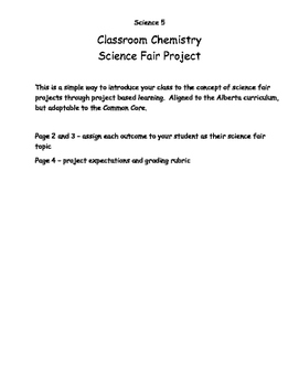 Project Based Classroom Chemistry