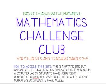 Project Based Enrichment Unit: Mathematics Challenge Club