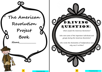 American Revolution: Project Based Learning Activity (Blac