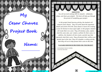 Cesar Chavez: Project Based Learning Activity: (Black/White)
