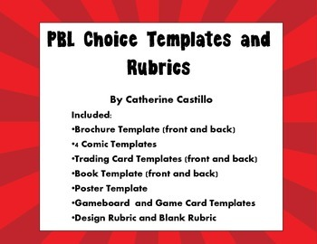 Project Based Learning Blank Templates and Rubric