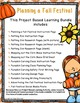 Project Based Learning: Planning a Fall Festival