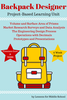Project Based Learning : 9 Week Backpack Designer Unit for