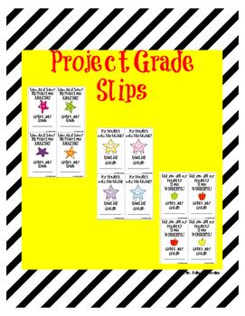Project Grade Slips