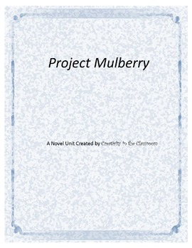 Project Mulberry Novel Unit Plus Grammar