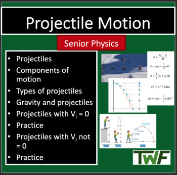 Projectile Motion - Physics PowerPoint Lesson & Notes
