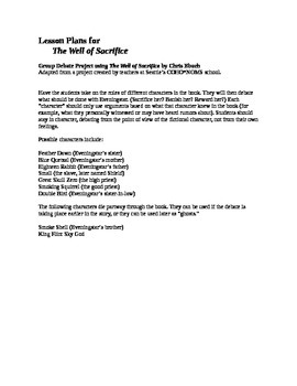 Projects for The Well of Sacrifice, Mayan Historical Novel