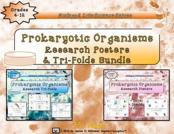 Prokaryotic Unicellular Organisms Researh Bundle