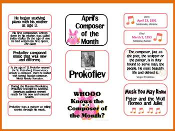 Prokofiev Composer of the Month (April) Bulletin Board Kit