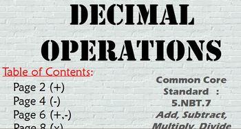 Promethean Flipchart: Add, Subtract, Multiply, Divide Deci