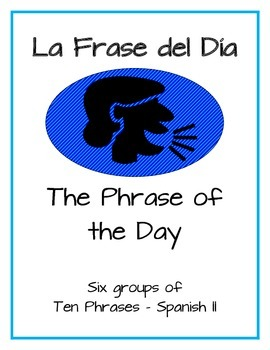 "Promote Speaking with Daily ""Phrase of the Day"" Warm-up -"