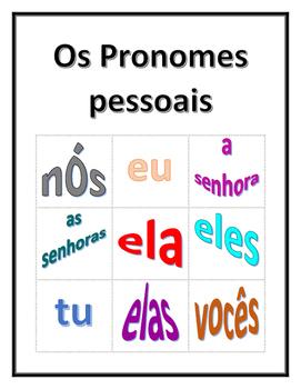 Pronomes pessoais (Subject pronouns in Portuguese) Bingo