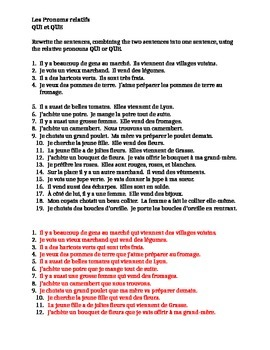 Pronoms relatifs (French Relative Pronouns) Qui et Que wor