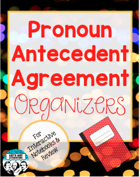 Pronoun Antecedent Agreement Interactive Notebook Foldables