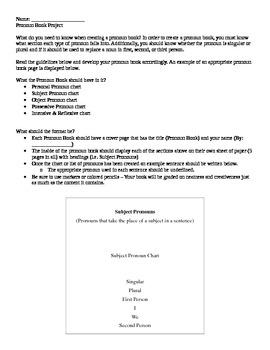 Pronoun Book Project