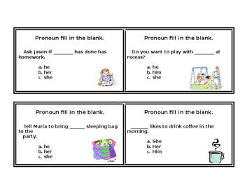 Pronoun Fill in the Blank