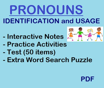 Pronoun Lesson - Identification & Usage - notes, applicati