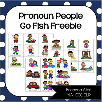 Pronoun People Go Fish Freebie