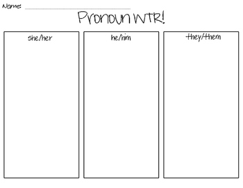Pronoun Write the Room!