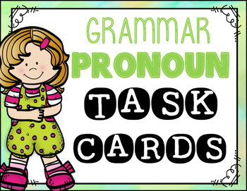 Pronoun task cards