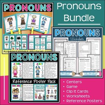 Pronouns Unit {Includes Instructional Aids}