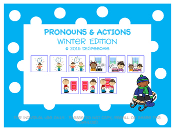 Pronouns & Actions Winter Edition