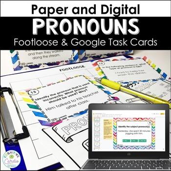Pronoun Task Cards - Footloose Activity