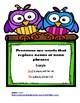 Parts of Speech ( Pronouns )  Owls Themed Posters \ Activi
