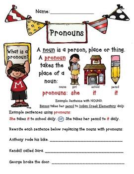 Pronouns Packet