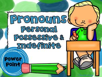 Pronouns Personal Possessive Indefinite