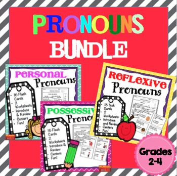 Pronouns (Personal, Possessive, Reflexive) Bundle Task Car