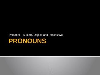Pronouns PowerPoint - Part One