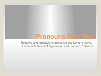 Pronouns PowerPoint - Part Two