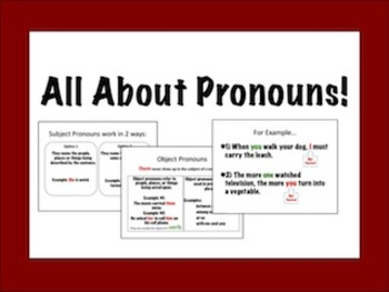 Pronouns Powerpoint with Fill-in Guided Notes!