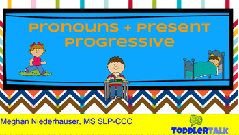 Pronouns + Present Progressive Lesson