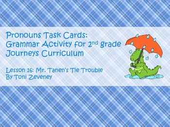Pronouns Task Cards for Journeys Grade 2