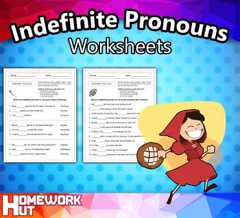 Indefinite Pronouns Worksheets