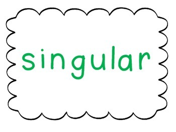 Pronouns singular and plural- 2 Corners and Task Cards It'