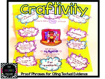 Proof Phrases for Citing Textual Evidence Craftivity/Inter