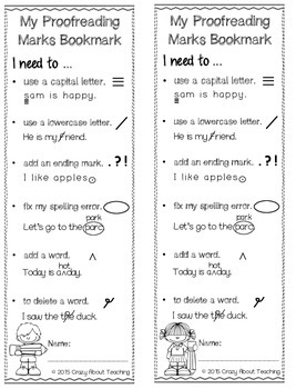Proofreading Bookmarks
