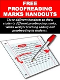 FREE Proofreading Marks Handouts