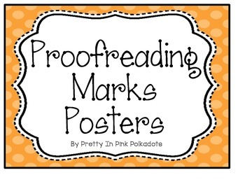 Proofreading Marks Posters