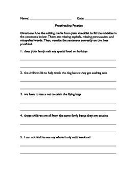 Proofreading Practice