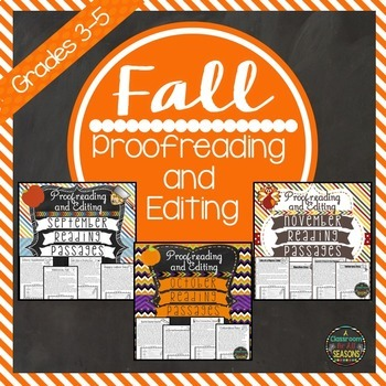 Proofreading and Editing Bundle: Fall Edition
