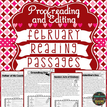 February Reading Passages: Proofreading and Editing with C