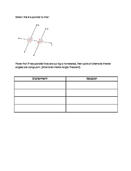Proofs- Parallel Lines and Transversals