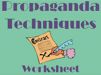 Propaganda Techniques Worksheet